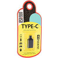 "Переходник ""Metal Квадрат"" USB OTG - Type-C RT-OTO6 (сталь)"