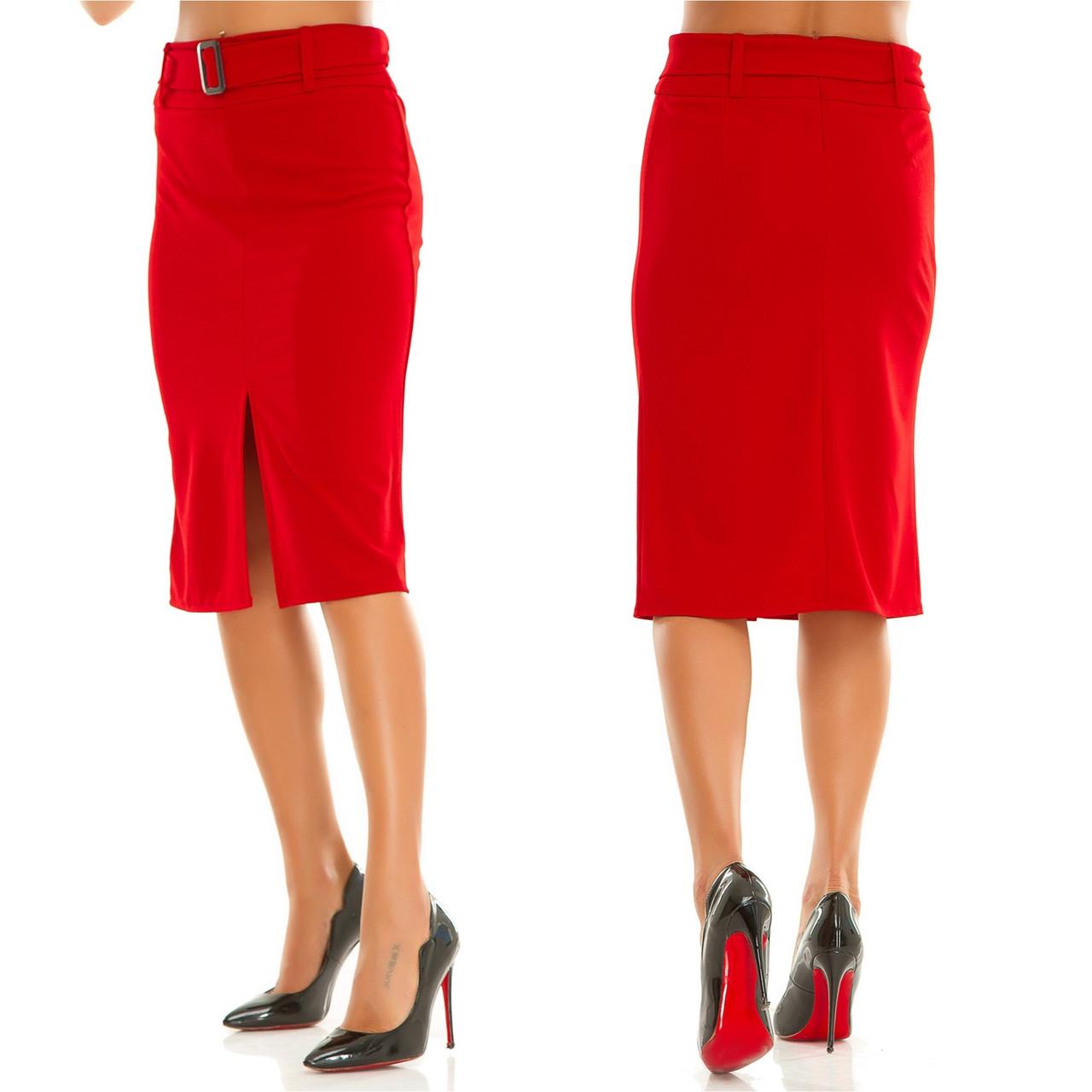 Женская юбка с поясом.Размеры:44-50.+Цвета