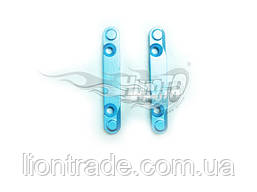 (86627) Blue Alum F/R Lower Susp Arm Holders 2P
