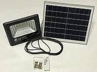 Led прожектор светодиодный 25W с солнечной панелью и пультом