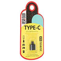Переходник Metal Short USB OTG - Type-C RT-OTO6 (золото)