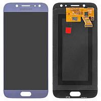 Дисплей (экран) для телефона Samsung Galaxy J5 J530 2017, J530F (Super AMOLED) + Touchscreen Original Blue