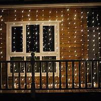 Гирлянда-штора 3x2м 320 LED Теплый белый