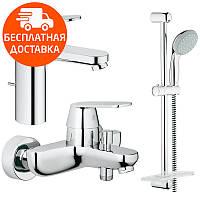 Набор смесителей для ванной 3 в 1 Grohe Eurosmart Cosmopolitan 126112M хром