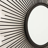 Настенное зеркало Бруклин d50см металл 1017241 солнце, фото 2