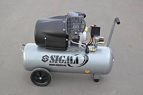 Компресор двоциліндровий SIGMA 50 л, 10 бар, 455 л/хв