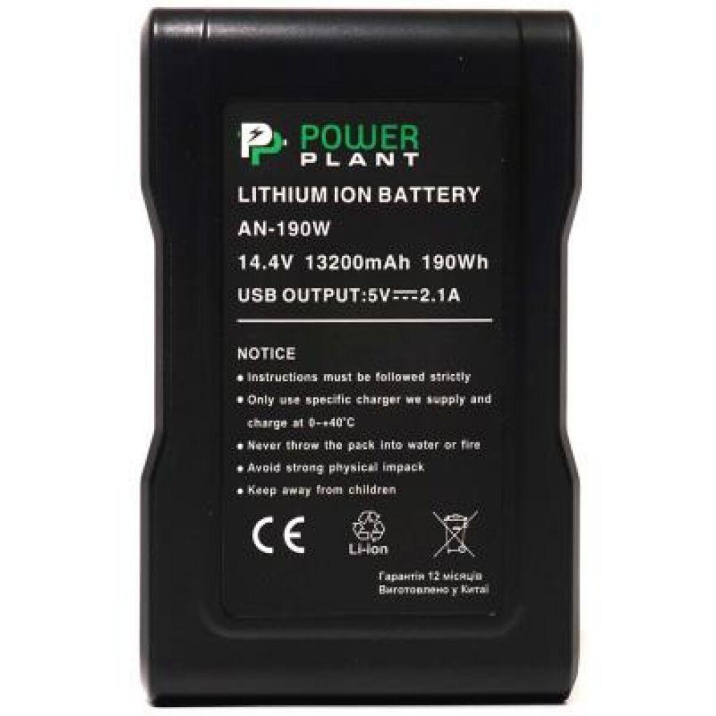 Аккумулятор к фото/видео PowerPlant Sony AN-190W, 13200mAh (DV00DV1418)