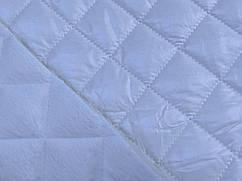 Плащевка с мехом квадраты 35 мм, молочный