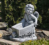 Садовая фигура скульптура для сада Ангел 43x25x52cm SS12097-16 статуя