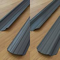 Штакетник Графитовый Корея  двухсторонний рал 7024 глянец 0,45 мм
