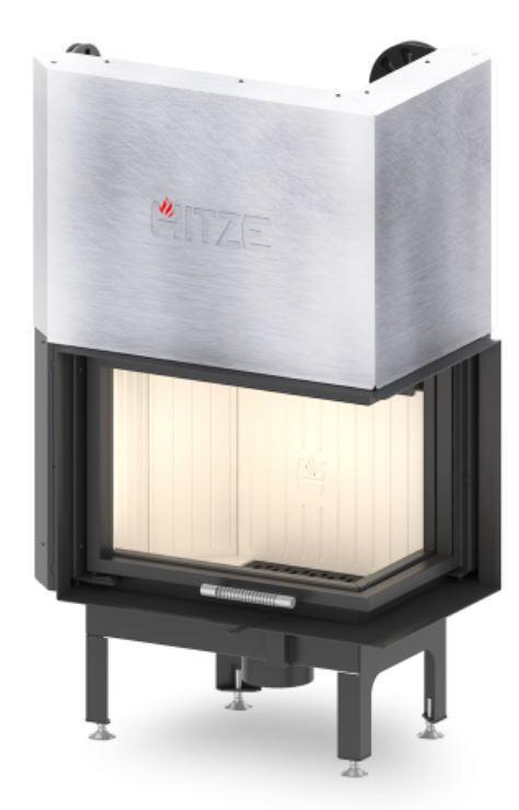 Каминная топка  HITZE ALBERO AL9RG.H Правое стекло с гильотиной (9 kW)