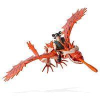 Как приручить дракона:  дракон Кривоклык в броне с всадником Сморкалой (со звуковыми эффектами)