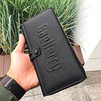 ✓Мужской кошелек Baellerry GUERO S1393 Black удобный для кредитных карточек монетница на змейке для мужчин