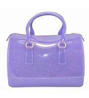Женская сумка в стиле Furla Candy Gummi фиолетовая