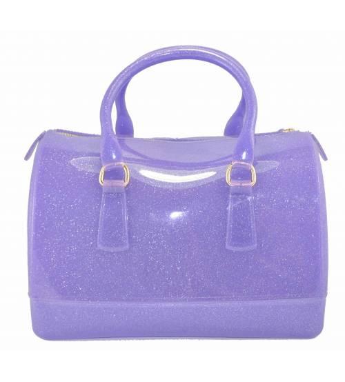 588e39f4c626 Женская сумка в стиле Furla Candy Gummi фиолетовая