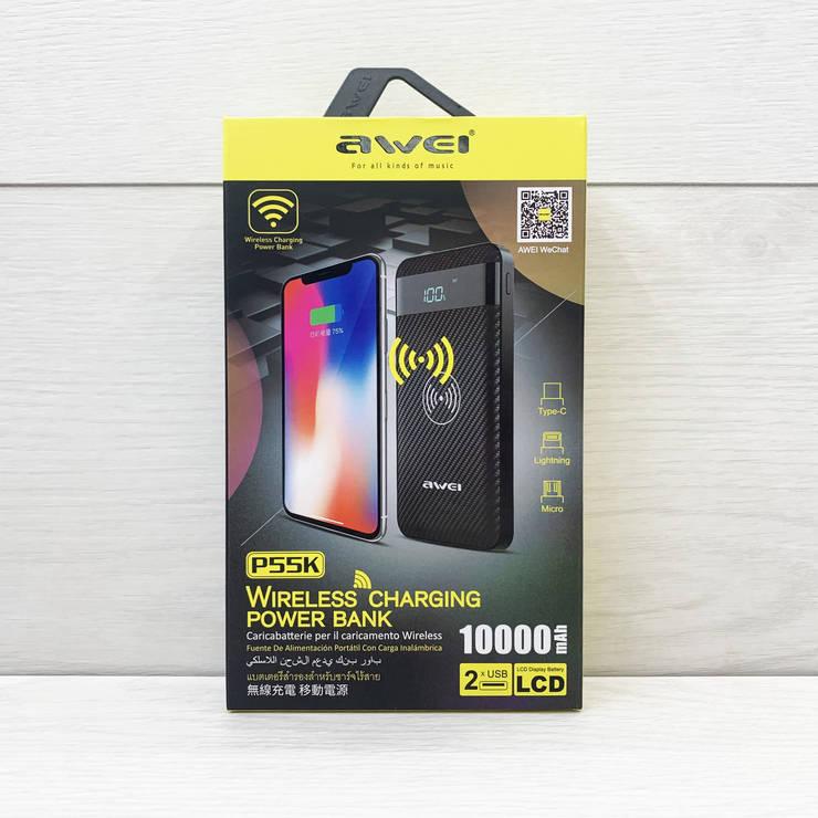 PowerBank Awei 10000 mAh P55K, фото 2