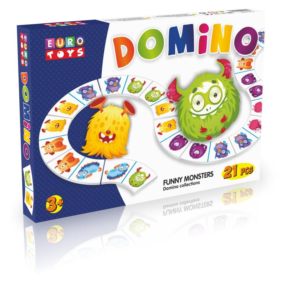 """Класичне доміно """"EUROTOYS -Funny Monsters"""" 21эл. Бамсик /12/"""