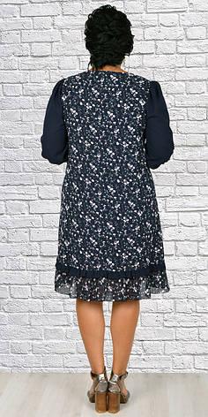 Женское шифоновое платье трапеция ( 50-56 р-ры ), фото 2