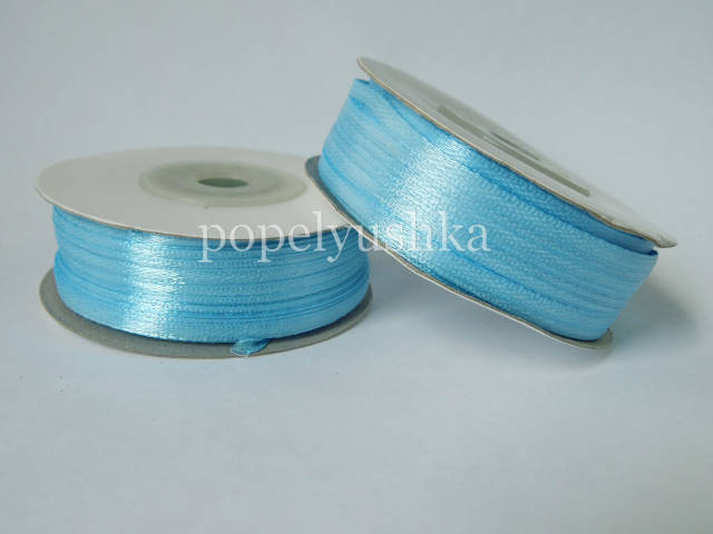 Стрічка атласна 0,3см голуба (10м)