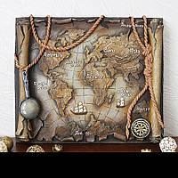 Панно Древняя карта мира КР 913 цветная