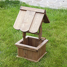 Колодец маленький деревянный декоративный 65 см D9001 декор для сада