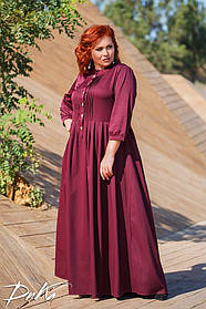 ДС527  Платье в пол в расцветках (размеры 42-60)