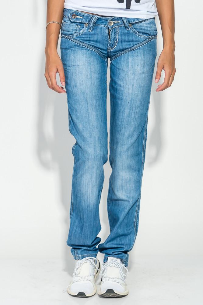 Джинсы женские с вышивкой на задних карманах