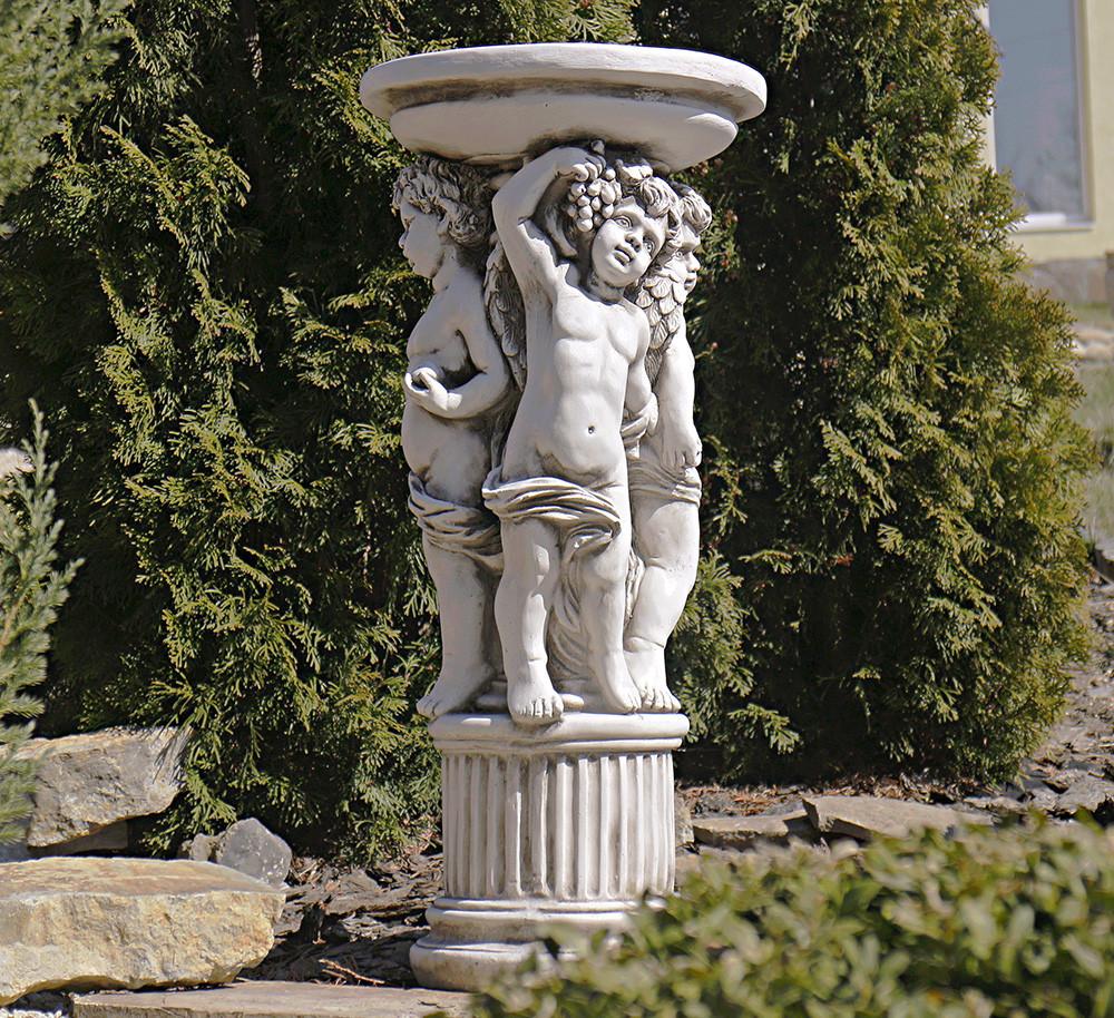 Садовая фигура скульптура для сада Три Ангела 34.5X34.5X75.5cm SS12075-58 статуя