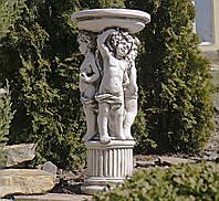 Садовая фигура скульптура для сада Три Ангела 34.5X34.5X75.5cm SS12075-58 статуя, фото 1