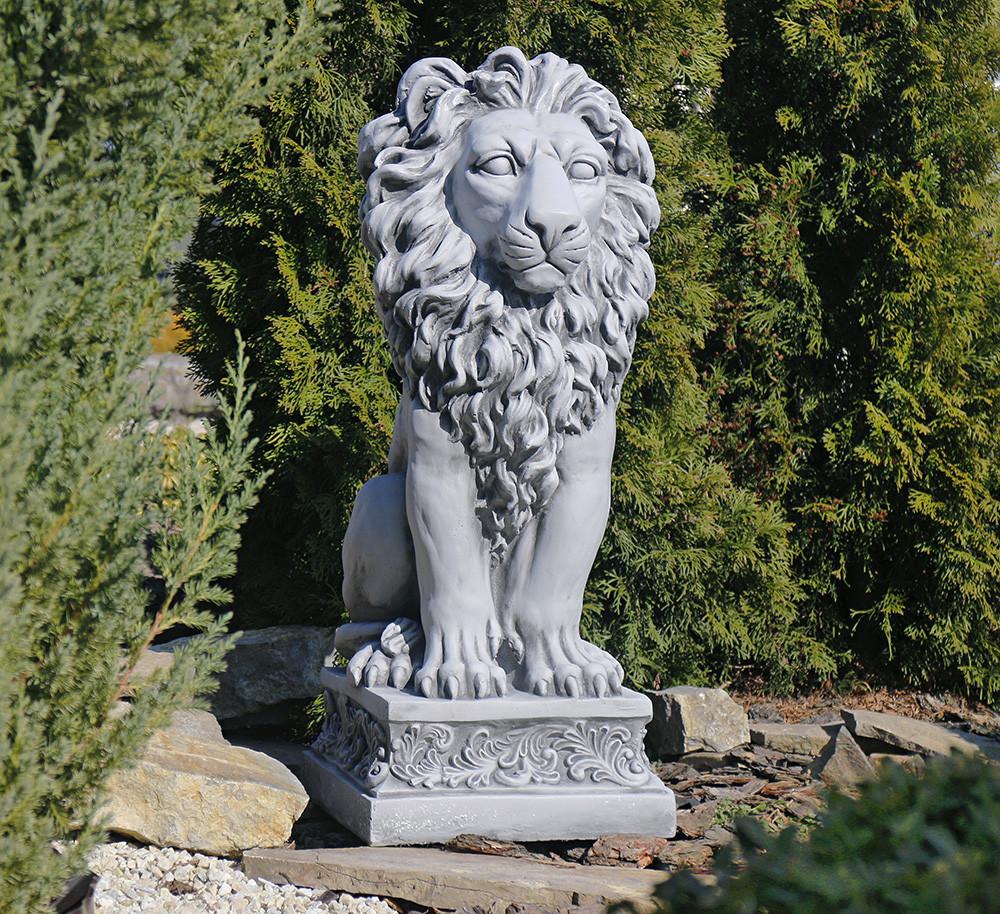 Садовая фигура скульптура для сада Лев 32.5x38x79.5cm SS0706-16 статуя