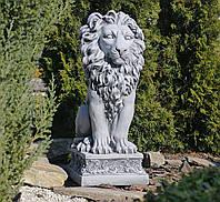 Садовая фигура скульптура для сада Лев 32.5x38x79.5cm SS0706-16 статуя, фото 1