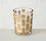 Набор подсвечников 3х h6 d5см золотое стекло 1009920 подсвечники комплект подсвечник стакан, фото 3