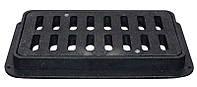Решетка дорожная пластмассовая ДБ 810х400х80 мм (ХП) (Ч) с замком