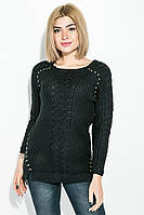 Джемпер женский удлиненный черный, фото 1