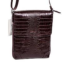Мужская сумка Karya 0721-57 через плечо кожаная коричневая