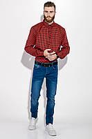 Рубашка мужская в клетку  511F007 (Красно-синий), фото 1