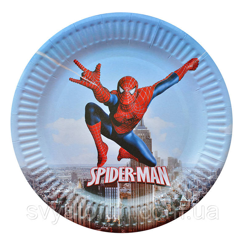 "Набор тарелок ""Человек-паук"" (10 шт/уп)"