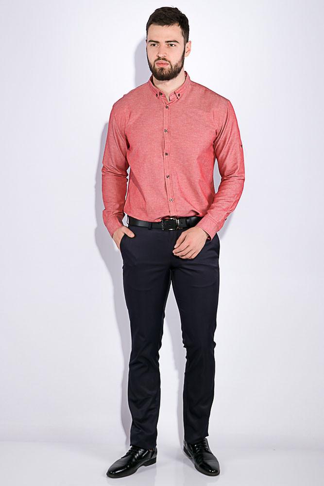 Рубашка мужская, однотонная 511F011-1 (Коралловый)