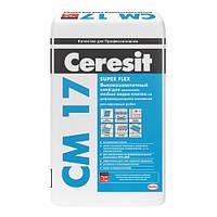 CERESIT СМ-17 Высокоэластичный клей для плитки, мешок 25 кг