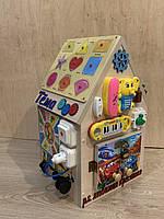 """Бизидом, домик для развития ребенка 50×35×30 см """"Счастливый домик"""" именной!!!"""