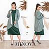 Сукня жіноча з накидкою в смужку ОМ/-715 - Пляшковий