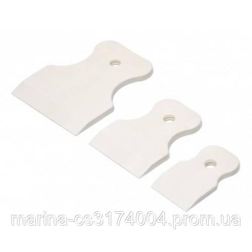Набір шпателів гумових білих, 3 шт 40/60/80 мм (05-930)
