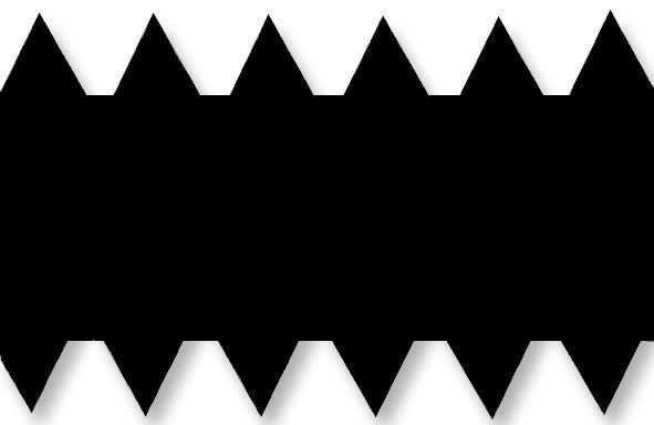 Металева зубчаста пластина 56 см. RS4 (5.5х6.5/1.9, S=0.2)