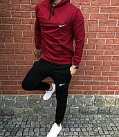 Спортивный костюм мужской Nike красно-черный