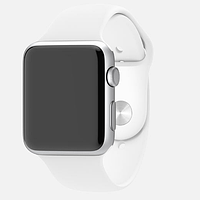 Умные часы Apple Watch Sport 42mm Aluminum silver case white sport band EU (1 мес. гарантии)
