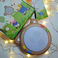 Электронный детский барабан Лягушка