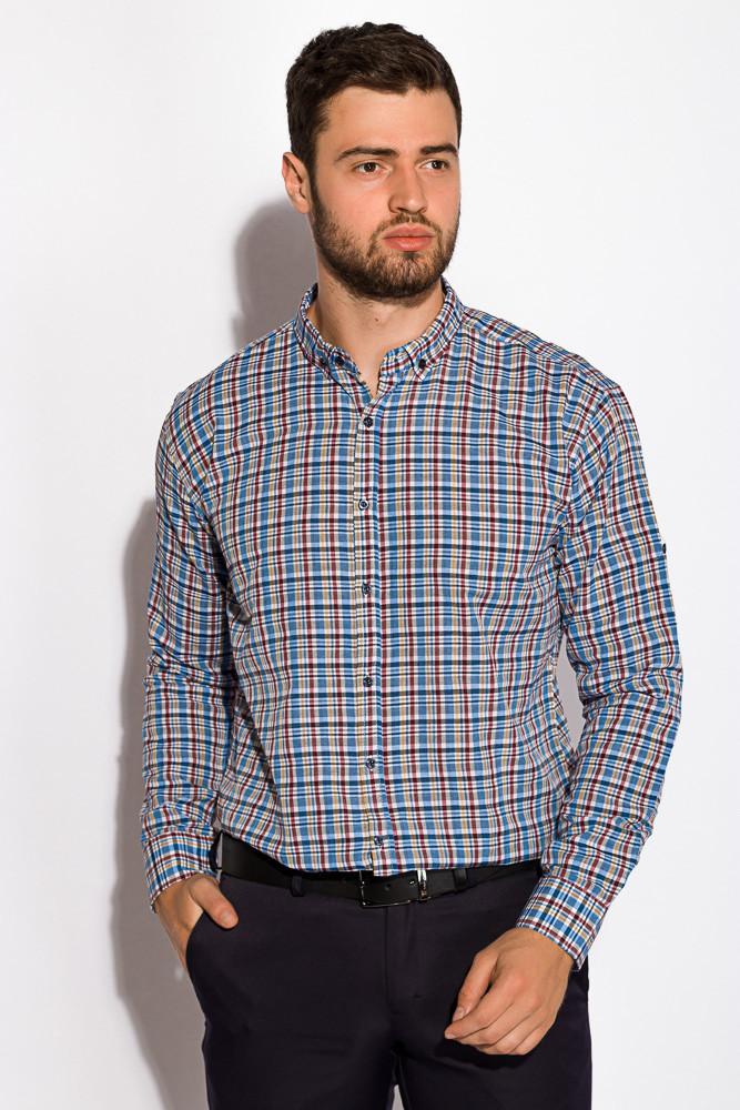 Рубашка 511F043 (Сине-бордовый)
