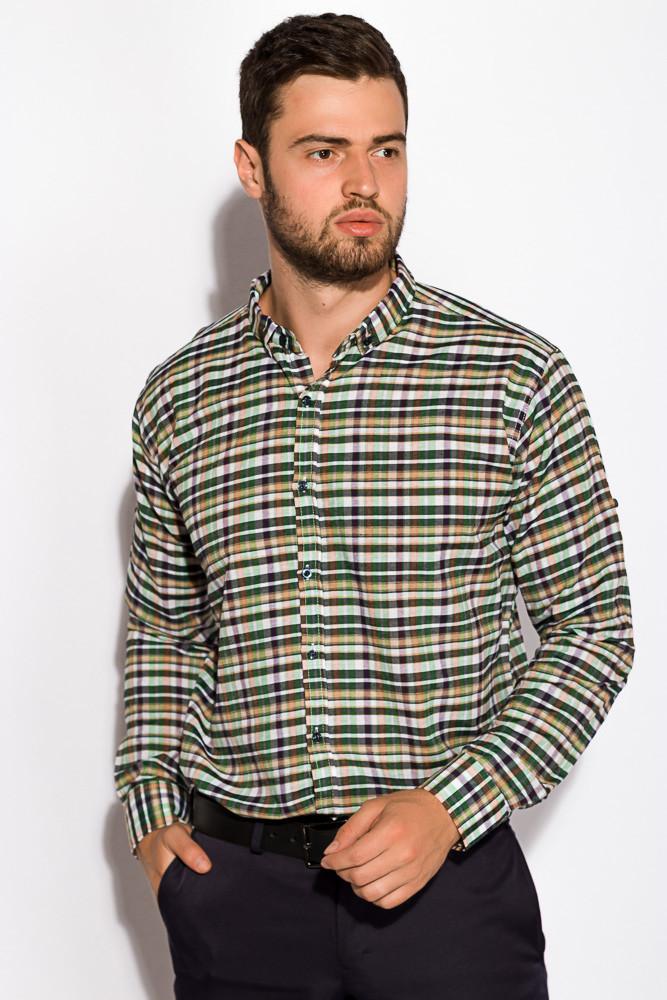 Рубашка 511F046 (Бежево-зеленый)