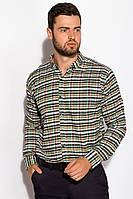Рубашка 511F046 (Бежево-зеленый), фото 1