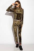 Костюм женский велюровый с пайетками, фото 1